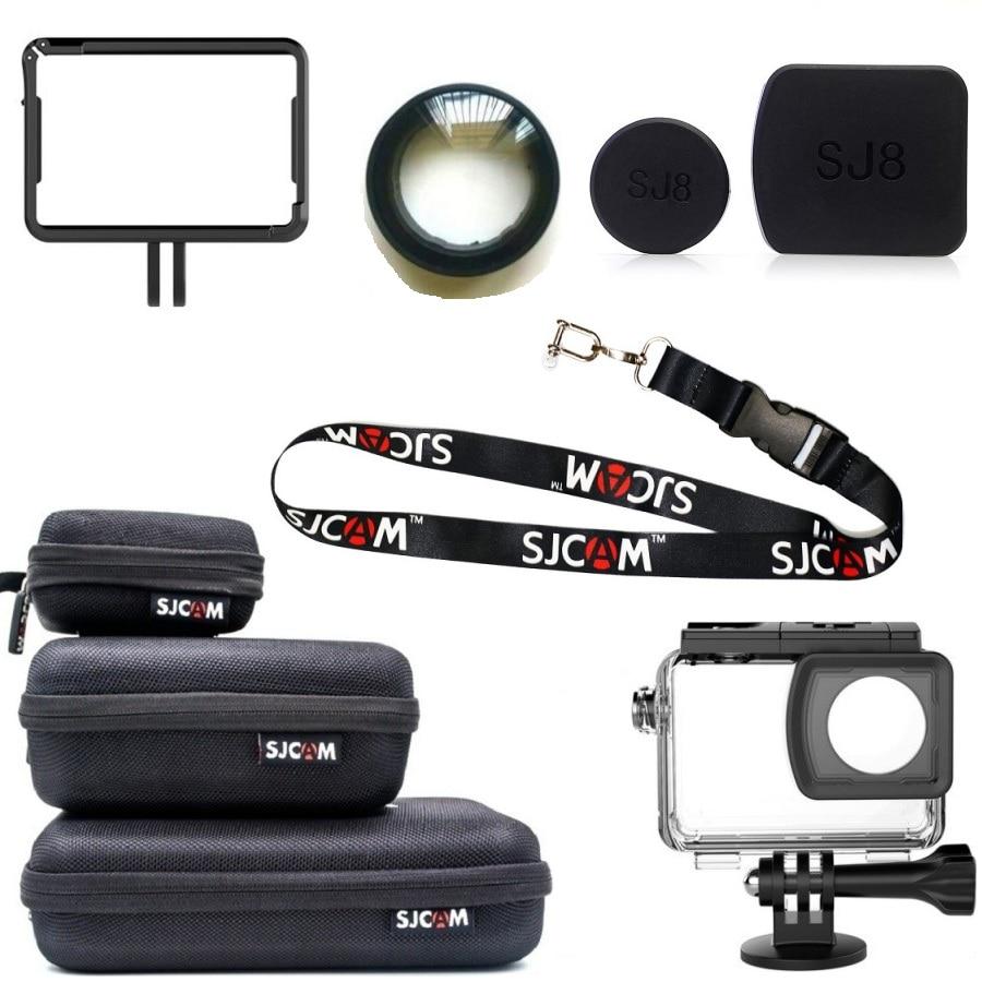 For Original SJCAM SJ8 Pro/Plus/Air Accessories Lens Cap/Cover/Glass UV Filter/Screen Protector Film For SJ8 Action Camera