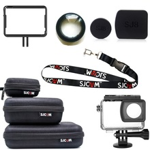Originele Sjcam SJ8 Pro/Plus/Air Accessoires Lensdop/Cover/Glas Uv Filter/Screen Protector film/Frame Voor SJ8 Actie Camera