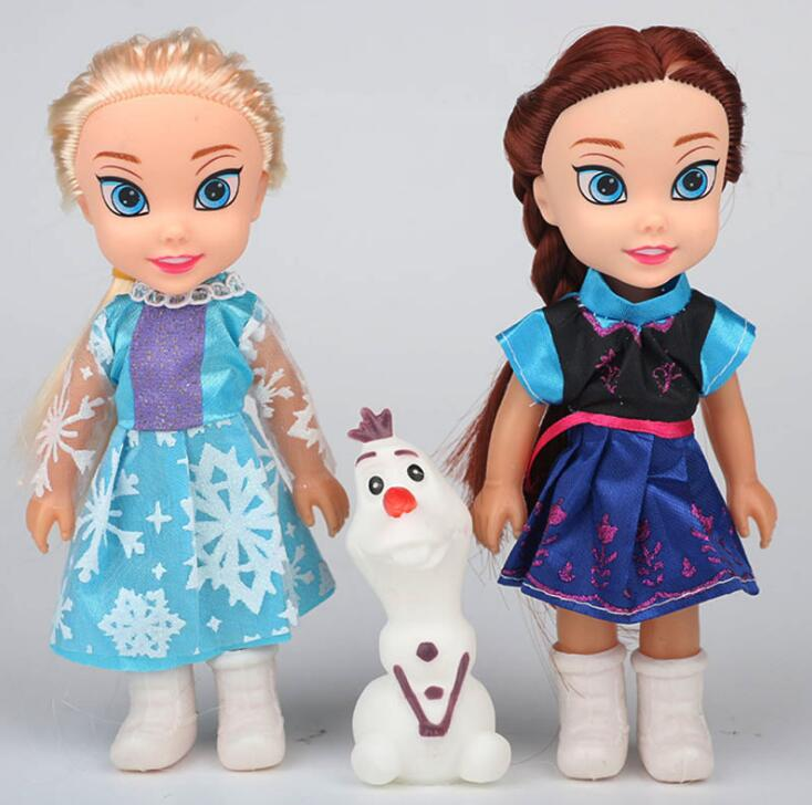 3pcs Princess Anna Elsa Dolls For Girls Toys 16cm Princess Anna Elsa Dolls For Girls Toys  Small Plastic Baby Dolls Congelad3pcs Princess Anna Elsa Dolls For Girls Toys 16cm Princess Anna Elsa Dolls For Girls Toys  Small Plastic Baby Dolls Congelad