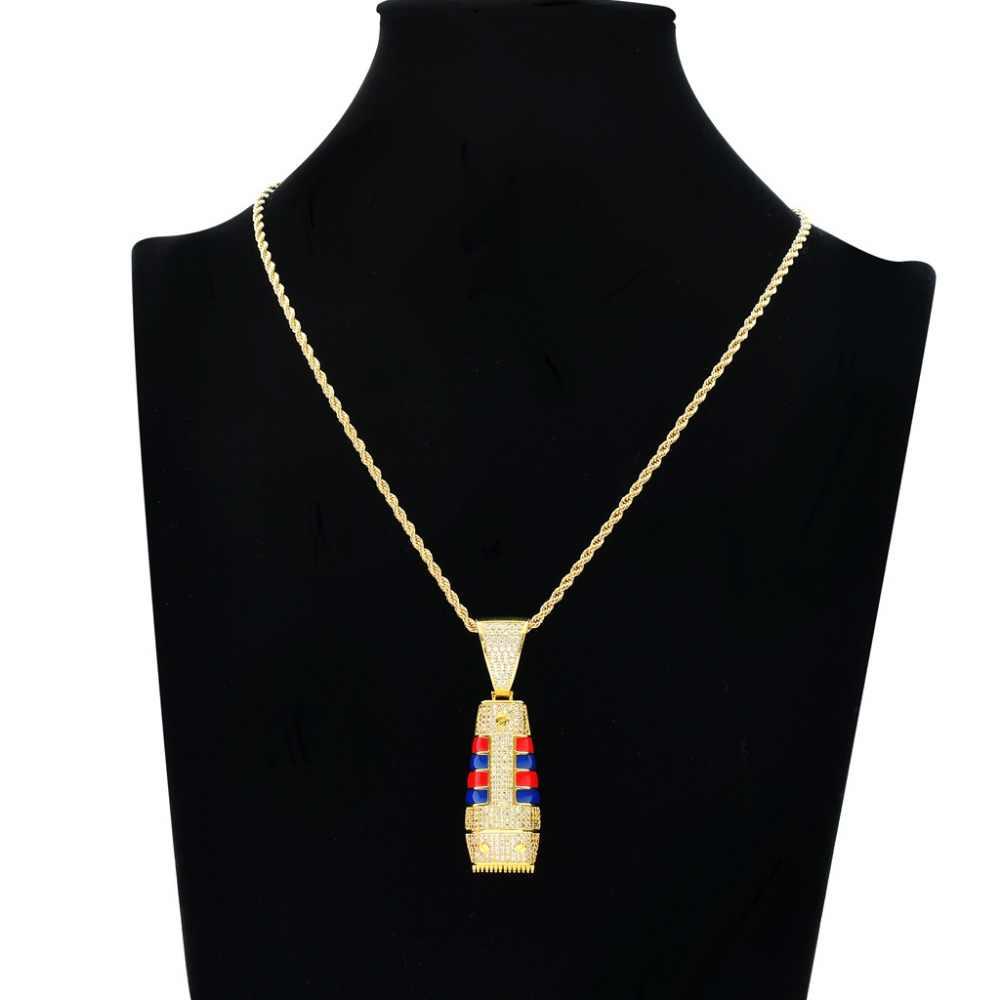 Хип хоп Полный AAA CZ Циркон проложенный Bling Iced Out машинка для стрижки и подравнивания волос Подвески ожерелье для мужчин раппер ювелирные изделия золото серебро