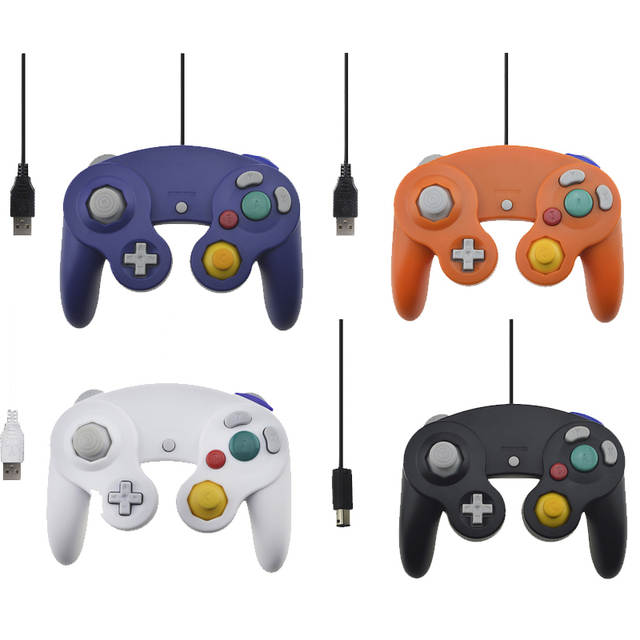 USB Wired Controller For Nintend Gamecube Console Handheld For NGC Joystick  with USB Port For PC For MAC Computer