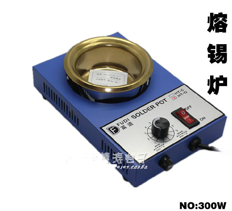 300W solder pot tin melting furnace thermoregulation stainless steel 100mm 200 ~ 450 centigrade molten tin furnace welding melting furnace machine welder zb1510b dissolve tin dip solder stove for pcb soldering pot