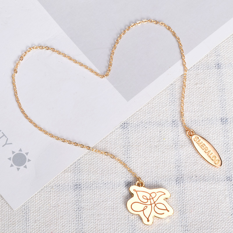 Kpop SMERALDO Same Golden Alloy Bookmark Metal Flower Student Stationery Tools Collections Accessaries(China)