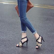 Fisch Mund Schuhe High Heels Gladiator Freizeit Stiletto Heels Modelle Schuhe Leopardenmuster Zip Plain Pferdehaar Einzelnen Schuhe
