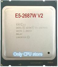 Оригинальный процессор Intel Xeon E5 2687WV2, OEM версия ЦП, 3,4 ГГц, 25M, 8 ядер, 22 нм, E5 2687W, V2 LGA2011, E5 2687W, V2, 150 Вт, процессор E5 2687WV2