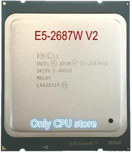 Image 1 - Original Intel Xeon cpu oem version E5 2687WV2 3.4GHZ 25M 8CORES 22NM E5 2687W V2 LGA2011 E5 2687W V2 150W Processor E5 2687WV2