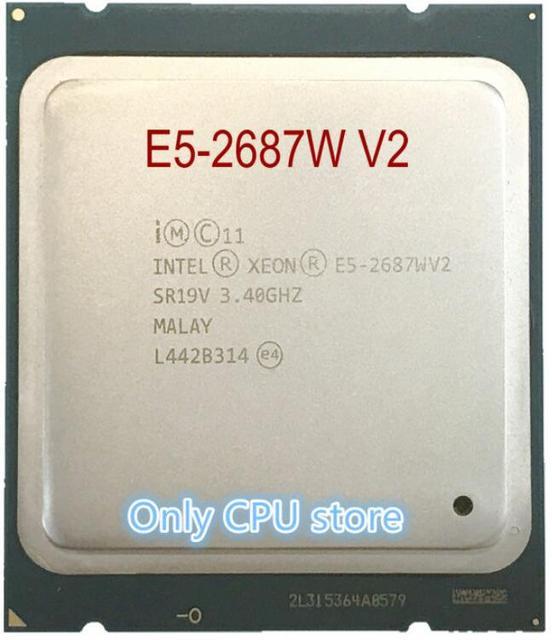 Original Intel Xeon cpu oem version E5 2687WV2 3.4GHZ 25M 8CORES 22NM E5 2687W V2 LGA2011 E5 2687W V2 150W Processor E5 2687WV2