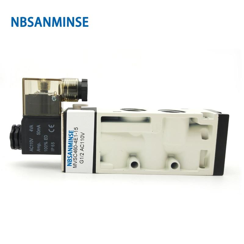 Electrical Pneumatic MVSC Air Control Valve Solenoid 180 - 400 Series Sanmin