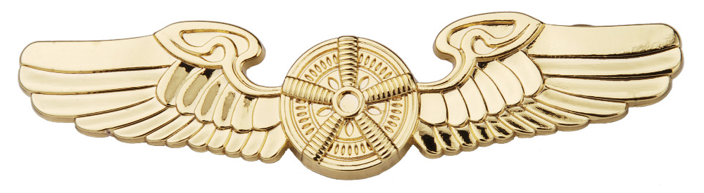 US AIRFORCE PILOTS METAL BADGE PIN WING INSIGNIA GOLDEN - 38056