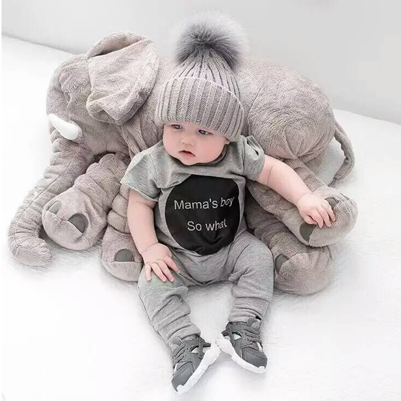 60CM Baby Elephant Plush Stuffed Toy Soft Baby Photograph Toys Kids Bed Cushion Boy Girl Gifts Children's Elephant Pillow 40 60cm elephant plush pillow infant soft for sleeping stuffed animals plush toys baby s playmate gifts for children wj346
