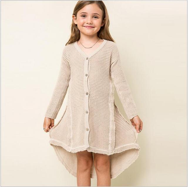 teenage girls clothing european style girls sweater coat fashion high,grade  children knitting sweater 7