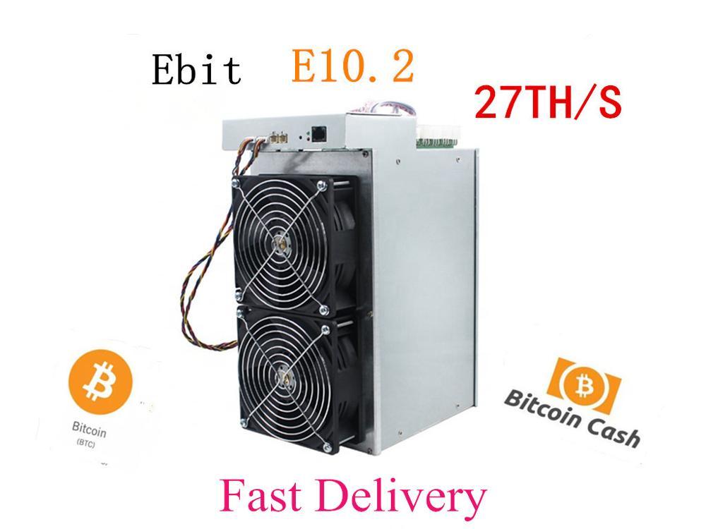 Nuevo minero Btc BCH Ebit E10.2 27T SHA256 minero mejor que E9i E10.3 Antminer S9 S9k S9j T9 + s11 S15 T15 WhatsMiner M3 BTC minero amor Core Aixin A1 25T con PSU económico que Antminer S9 S15 S17 T9 + T17 WhatsMiner M3X M21S Innosilicon T2T Ebit