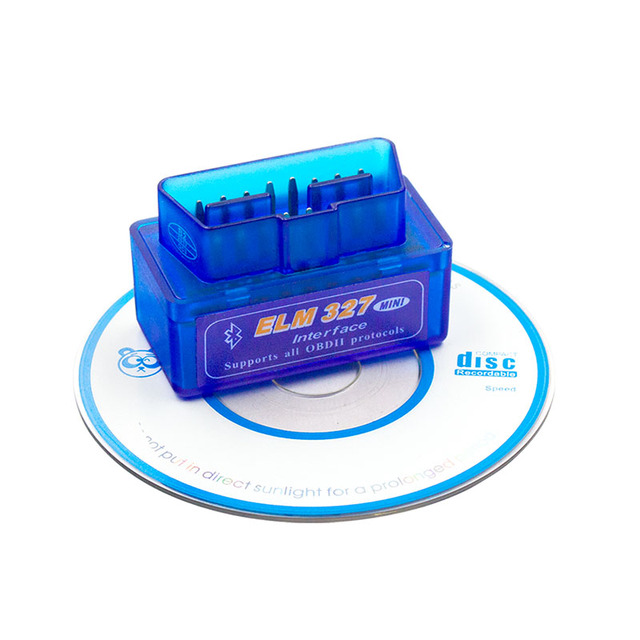 Mini ELM327 V2.1  Bluetooth 16Pin OBD2 Code Reader Diagnostic Tool ELM 327 Bluetooth For Android/Symbian For OBDII Protocol