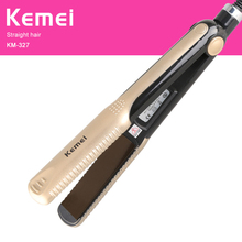 KEMEI Straightening Irons Electric Hair Straightener Fast Heating Flat Iron Multifuntional hair styling hair curler KM-327 kemei 3d floating panel hair curling iron eu plug straightening irons electric hair straightener flat iron hair curler page 7