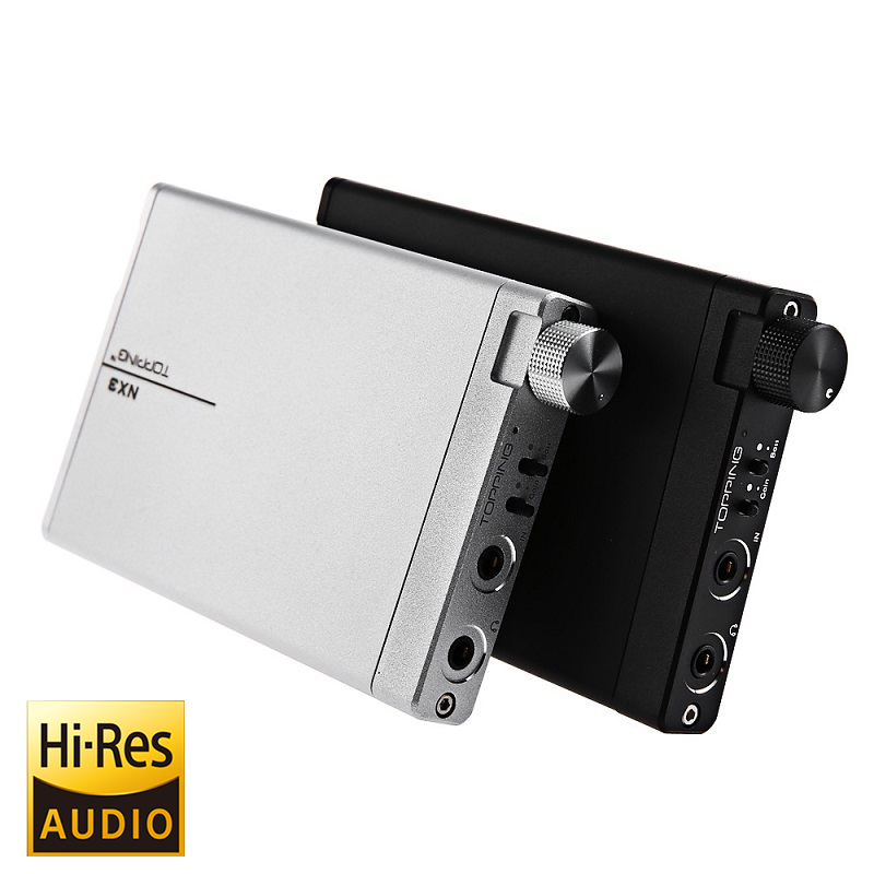TOPPING NX3 Portable Earphone USB DAC Headphone Amplifier HiFi Stereo Audio Amplifier Amp TPA6120A2 Black / Silver topping vx3 amp hifi power stereo amplifier 35w 2 class d digital audio headphone wireless bluetooth 4 0