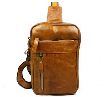 Free shipping Joyir male genuine leather chest pack first layer of cowhide chest pack