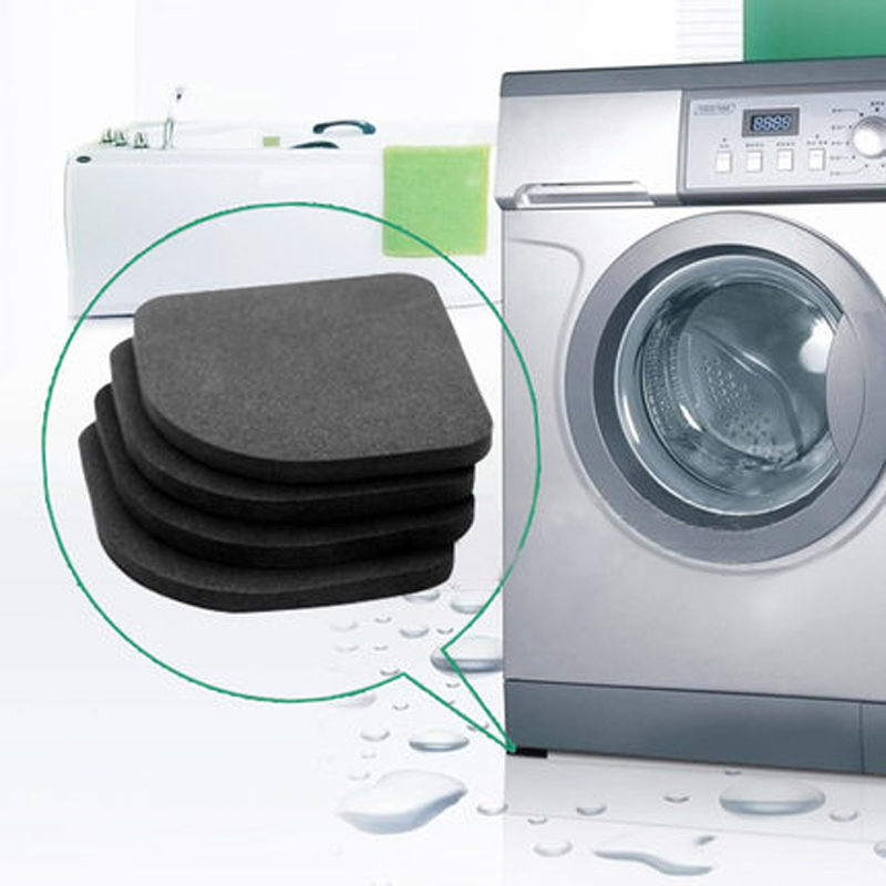 4pcs Multifunctional Refrigerator Washing Machine Anti-vibration Pad Mat Products Hot Sale Bath Hardware Sets