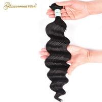 Malaysian Loose Wave Hair 100% Human Hair Bundles Remy Hair Extension 1bundle Deal Natural Color Can Buy 3/4 Bundles For Woman