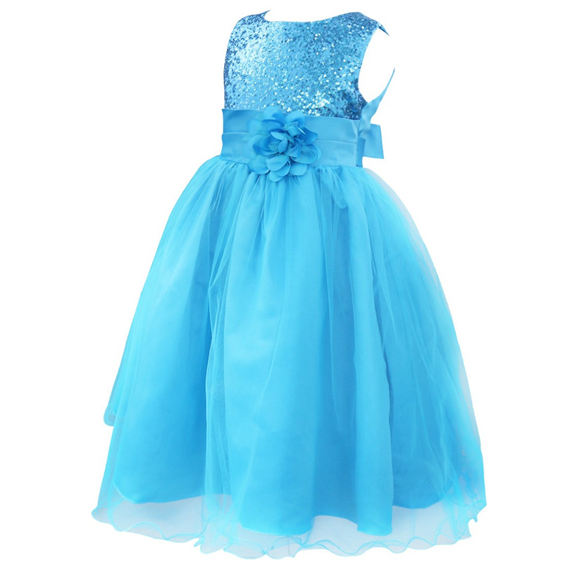 TiaoBug Girls 10 Colors Sequined Flower Pageant Prom Party Ball Dress Kids  Gown First Communion Dance Dresses 4 14Y for Wedding-in Flower Girl Dresses  from ... c4cb0be9cec7