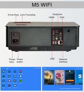 Image 4 - Poner saund m5 led projetor sistema de cinema em casa 3d proyector alto falantes de alta fidelidade hd completo selecionável android m5 wifi pk led96 projetor