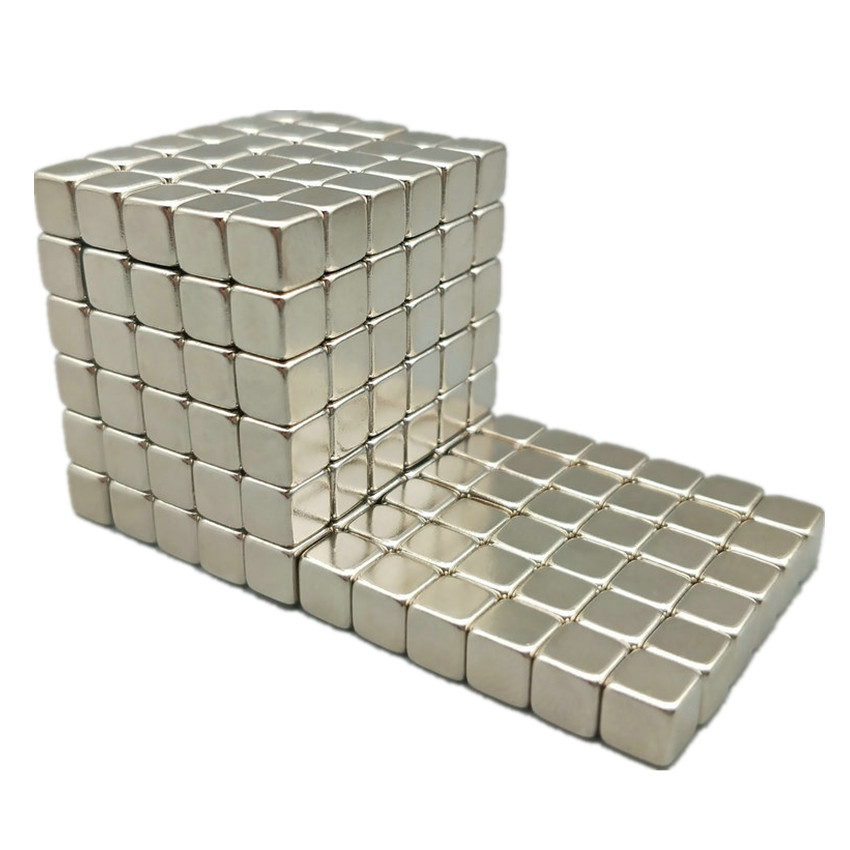 1 set/216 pcs N42 Block 3x3x3 4x4x4 5x5x5 mm NdFeB Magnet Cube Magic Toy Neodymium Magnets Rare Earth Magnets Permanent 5x5x5 spring magic rubik s cube puzzle toy