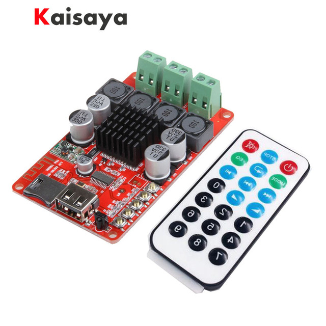 TPA3116 Bluetooth Receiver Amplifier Audio FM radioBoard Digital U Disk TF Decoding With Remote 2X50W Amplificador B5-003