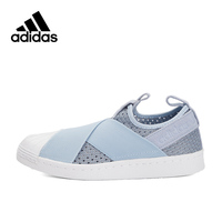 Blue Pink Adidas Originals Sneakers SUPERSTAR SLIP Women's Breathable Skateboarding Shoes Low tops Genuine Adidas Sneakers Women