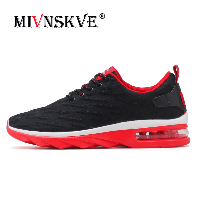 MIVNSKVE New Spring Autumn Breathable Mens Running Shoe Cushion Flying Mesh Sneakers For Men Outdoor Running Walking Sport Shoes