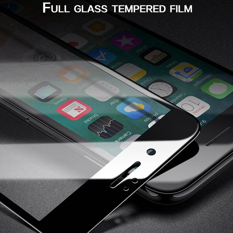 Protective Glass on the For iPhone 7 6 XS Max Screen Protector Glass For iPhone 6 s 7 8 Plus X Protective Glass IPhone XR 6s in Phone Screen Protectors from Cellphones Telecommunications