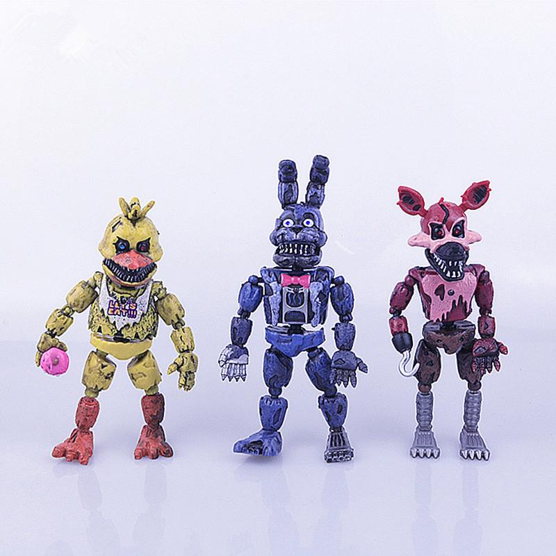 Five Nights At Freddy's about 17cm PVC Action figure FNAF Bonnie Foxy Freddy Fazbear Bear Doll  for childrenChristmas gift