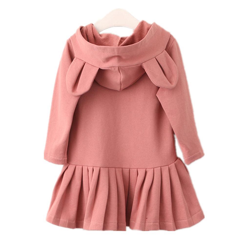 Children Dresses for Girls Long Sleeve Casual Girls Sweatshirts Hoodies Dress Cotton Spring Autumn Kids Clothes Girls Costume цена 2017