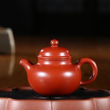 Yixing purple clay pot genuine famous artisans hand-made raw ore Dahongpao ball pot Kungfu Teapot Tea Set