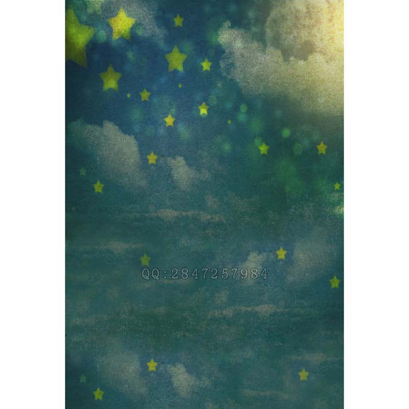 Free shipping photography backdrop Night sky theme photography backdrop vinyl backdrop S 1339