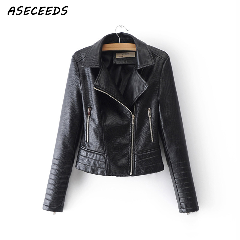 Zipper PU   leather   jacket women Motorcycle punk jackets faux   leather   coats 2018 New spring cool biker outerwear female streetwear