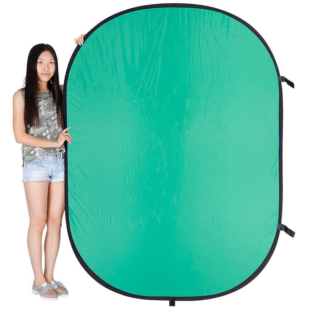 Neewer 1.5x2M 2 in 1 Photo Collapsible Reversible Chromakey Background Backdrop Panel/Green Blue Light Reflector for Studio