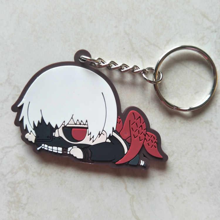 Tokyo Ghoul Anime modelo acción figura teléfono móvil mochila coche goma llavero colgante regalo 6cm