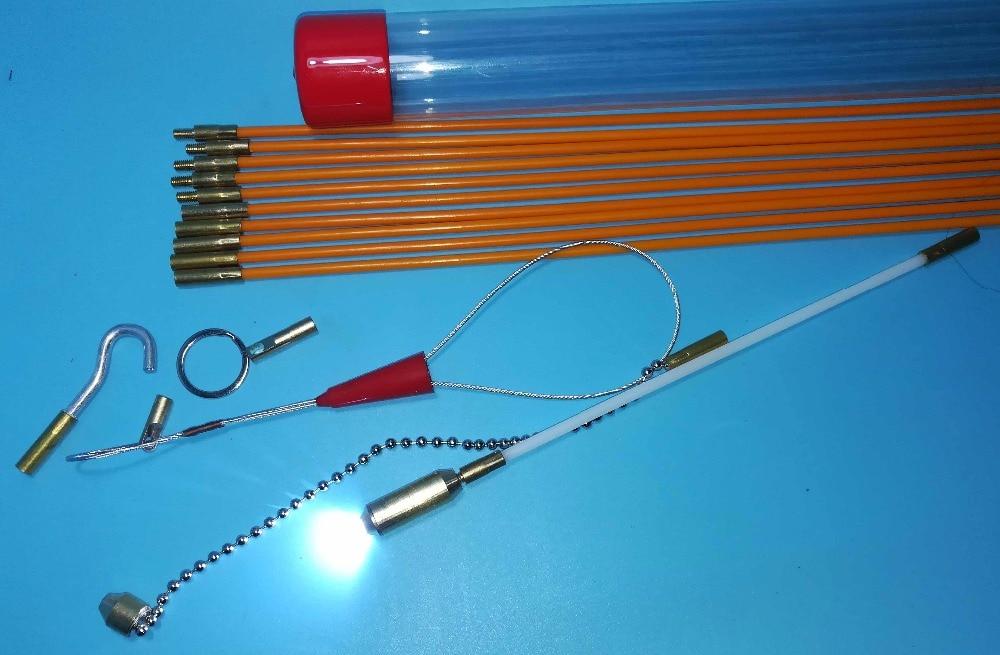 330mmx10 kits de acceso a cables kits de tendido de cables extractor de cable varilla de empuje tira de cinta de pescado varilla conductora varilla de serpiente extractor de alambre 3.3 metros