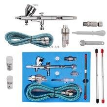Kit de aerógrafo Pro Dual Action 3, pistola pulverizadora práctica para pintura artística, herramientas eléctricas, pistola pulverizadora para uso comercial #83406