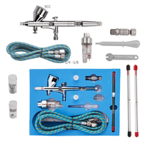 Pro Dual Action 3 Airbrush Air Kit Craft Practical Paint Art Spray Gun Power Tools Spray Gun For Commercial #83406