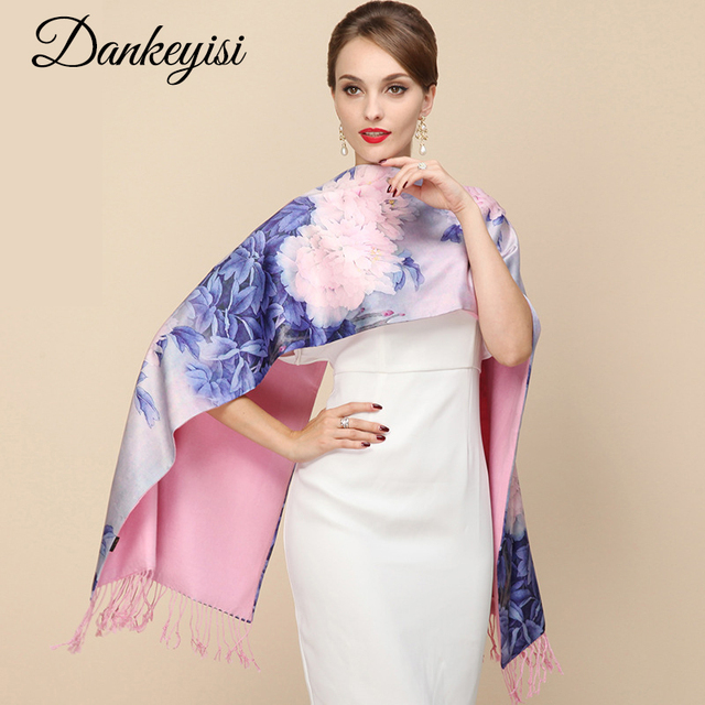 DANKEYISI 2018 Fashion Designer Ladies Big Scarf Women Brand Wraps Real Double deck Thickened Brush Autumn Winter Shawl Scarves