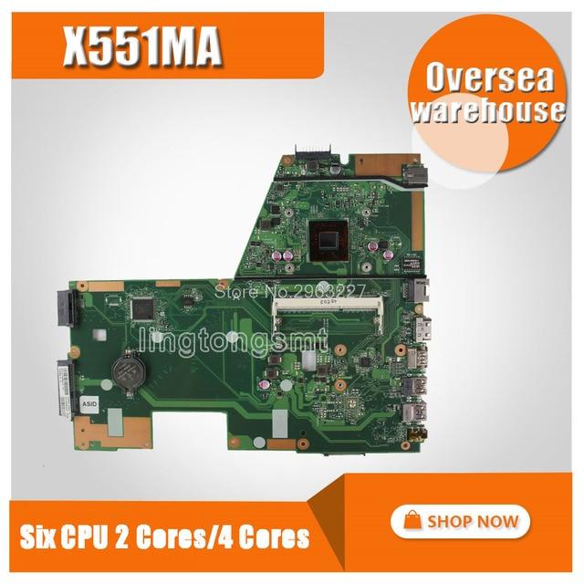 Avec 2 cœurs/4 cœurs CPU X551MA carte mère pour ASUS D550M F551M X551M carte mère dordinateur portable X551MA carte mère X551MA