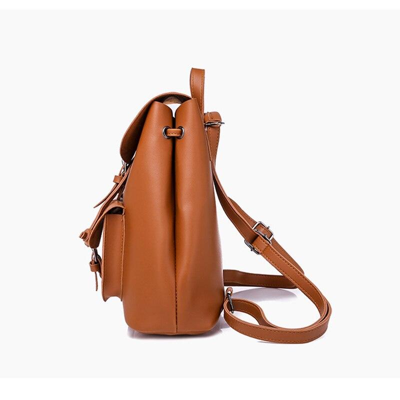 HTB1jOwybiLrK1Rjy1zdq6ynnpXaM Pocket PU Leather Women Backpack Female Retro Designer Schoolbag for Teenagers Girl's Casual Large Travel Bag Laptop Backpack