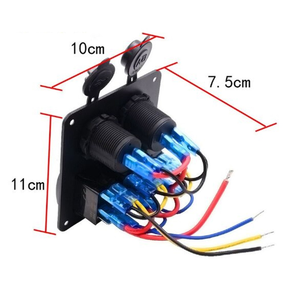 Waterproof Car Led 3 Rocker Switch Power Charger Usb Sockets Panel Socket Wiring Circuit Breakers Auto Boat Marine In Switches Relays From Automobiles