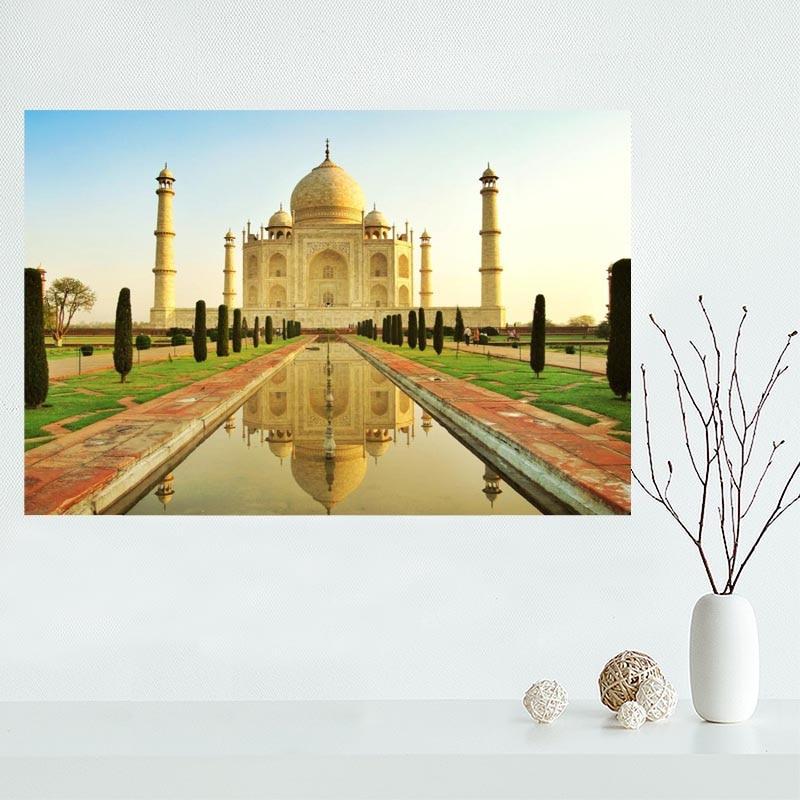 Nice Custom Taj Mahal Canvas Poster Print painting Art Wall Silk ...