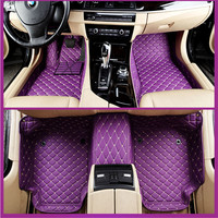Car Floor Mats Covers top grade anti scratch fire resistant durable waterproof 5D leather mat for toyota,Camry,Corolla,Styling