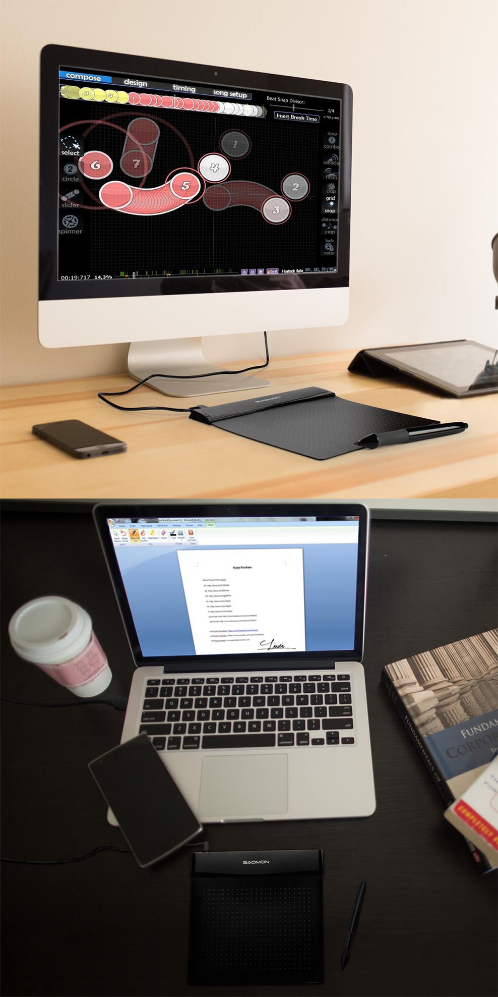 لوحة رقمية صغيرة مرنة للرسم والتصميم الهندسي على الحاسوب 1