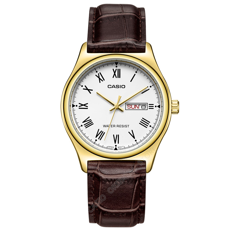 Casio Watch Top Brand Quartz Gold Wrist Watches Men fashion Casual Golden Hodinky 100% original watch Relogio Masculino MTP-V006