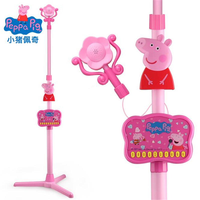 Peppa Pig George pepa pig Music Story Toy Microphone Pink Pig Sing K Microphone Toy Education New Year For Children Kids Gifts peppa pig george s balloon