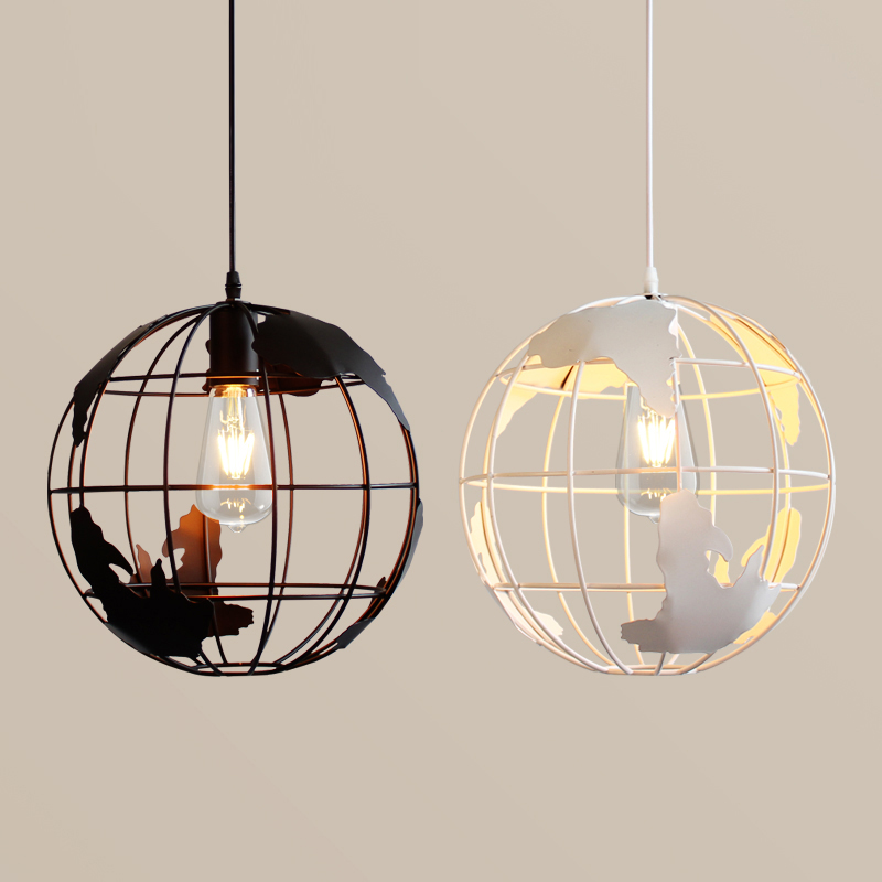 New Design Globes  Pendant Lamps  Metal Painted Black Color And White Color  For Room Pendant Lights Antique Life Style Lighting
