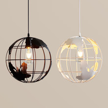 New design Globes pendant lamps Metal painted black color and white color for room pendant lights Antique life style lighting(China)